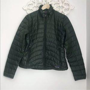 Patagonia Women's Goose Down Puff Jacket S Green